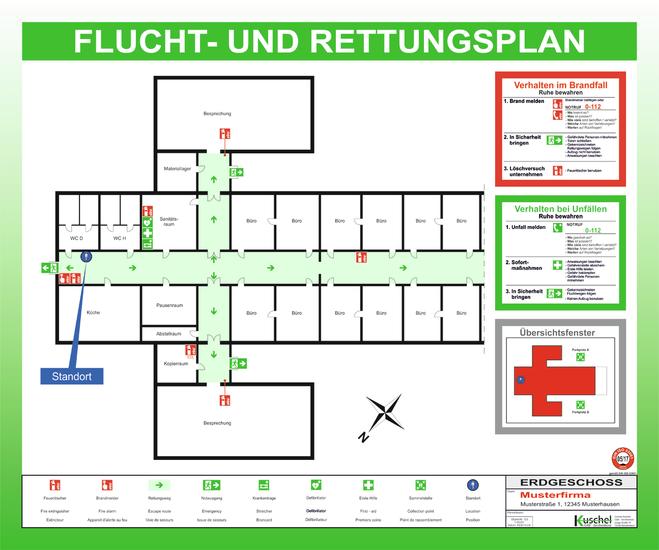 Flucht- und Rettungsplan Stuttgart